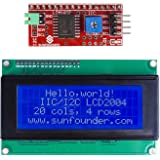 SunFounder IIC I2C TWI Serial 2004 20x4 LCD Module Shield for Arduino Uno Mega2560