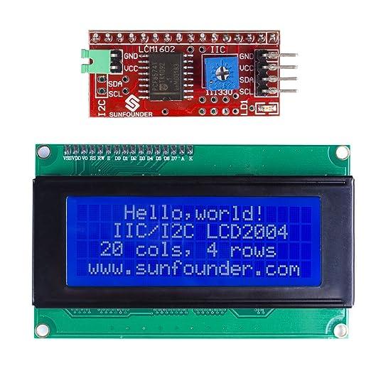 25 opinioni per SunFounder IIC I2C TWI Serial 2004 20x4 LCD Module Shield for Arduino Uno