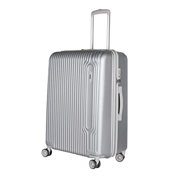 Vip Polycarbonate 75cm Silver Tube Plus Sp Hard Trolley Amazon In Bags Wallets Luggage