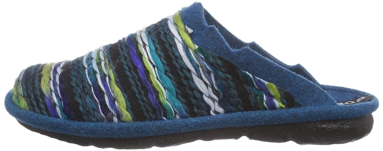 Romika Women slippers MIKADO 66 blue, (AQUA-MULTI) 22066 70 663