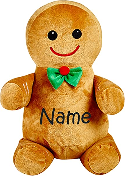Amazon Com Personalized Stuffed Gingerbread Man In A Bowtie With