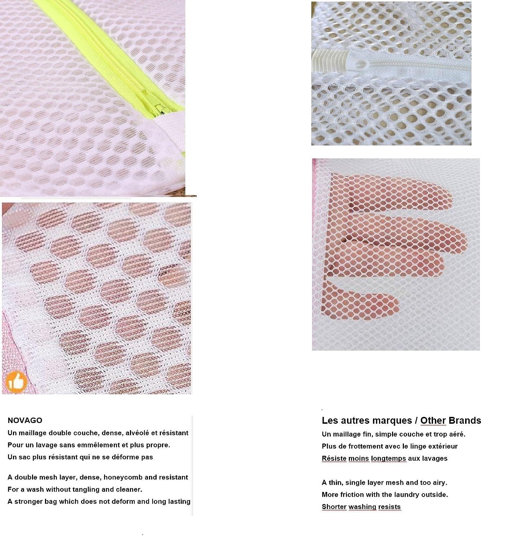 Bolsa de red con cremallera para lavadora, diseñado especialmente para su ropa sensible , ropa interior de calidad (tamaño M (Medium) 40 cm x 50 cm) ...