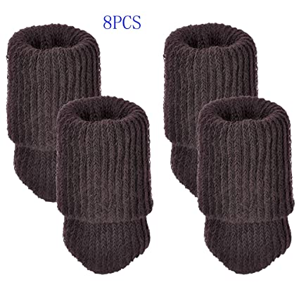 Mogoko Furniture Protectors - Chair Leg Socks Table Feet Covers Wool Round Furniture Foot Socks for