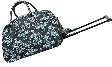 Blue and Black Paisley Gym Bag