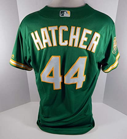09df8f56f 2018 Oakland Athletics A s Chris Hatcher  44 Game Issued Kelly Green ...