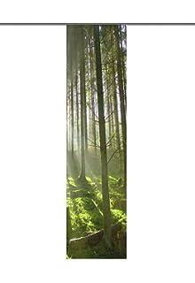 Interessant Amazon.de: Home Fashion 87331-768 Schiebevorhang Digitaldruck  SH38