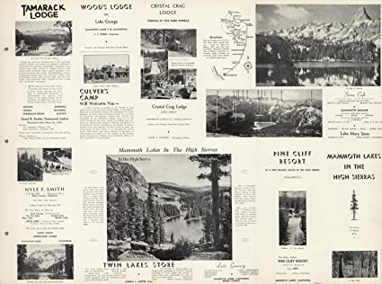 Amazon.com: Map Poster - View: Mammoth Lakes in the High Sierras ...