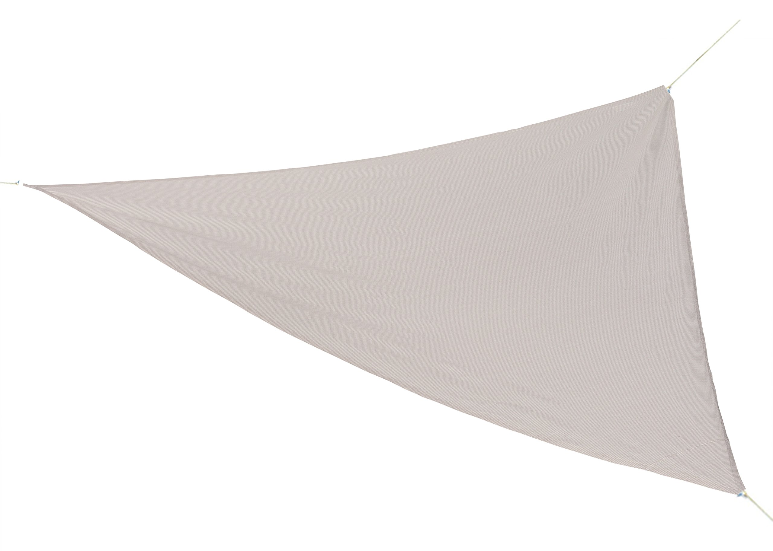 Coolaroo Ready to Hang Shade Sail 16ft 5in Triangle Pebble