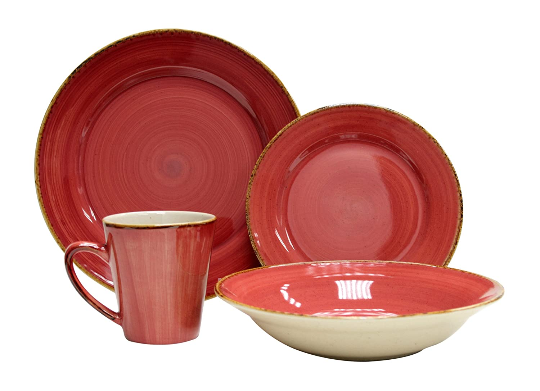 Amazon.com | Thomson Pottery 16-pc. Sedona Dinnerware Set Thompson Pottery Dinnerware Red Dinnerware Sets  sc 1 st  Amazon.com & Amazon.com | Thomson Pottery 16-pc. Sedona Dinnerware Set: Thompson ...