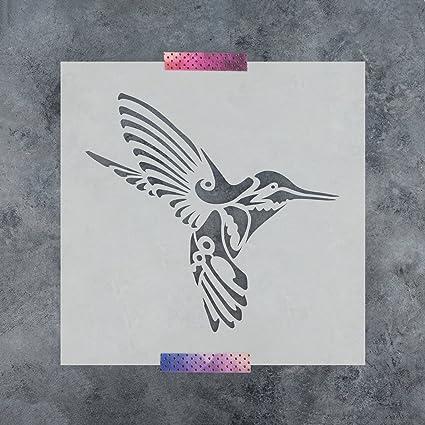 amazon com hummingbird deco stencil template for walls and crafts
