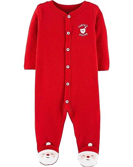a9b79183d9da Amazon.com  Carter s Baby Boys  Christmas Snap-Up Thermal Sleep ...