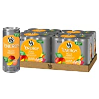Deals on 24 Pack V8 +Energy Healthy Drink w/Peach Mango 8Oz