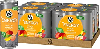 24-Pack V8 +Energy 8-oz. Cans (Peach Mango)