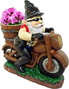Alpine Biker Gnomes (Biker Planter Gnome)