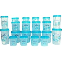 Princeware Twister Combo Plastic Package Container Set, 20-Pieces