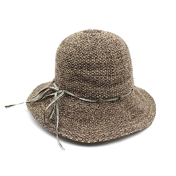 Dedesty Straw Sun Women Beach Caps Hat A at Amazon Women s Clothing ... 31879eeaa53