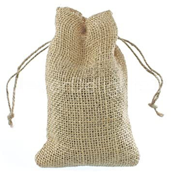 CleverDelights 4quot X 6quot Burlap Bags With Natural Jute Drawstring