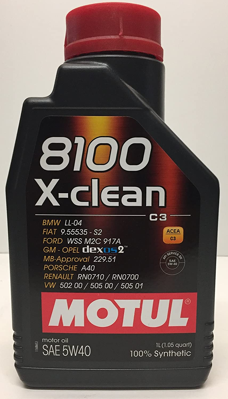 MOTUL 8100 X-Clean Acea C3 5W-40 Aceite de motor de coche totalmente sintético - Service Pack: 6 litros: Amazon.es: Coche y moto