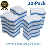STK 20 Pack Extra Thick Power Clean Magic Eraser - Eraser Sponge For All Surfaces - Kitchen-Bathroom-Furniture-Leather-Car-Steel - Just Add Water to Erase All Dirt - Melamine - Universal Cleaner
