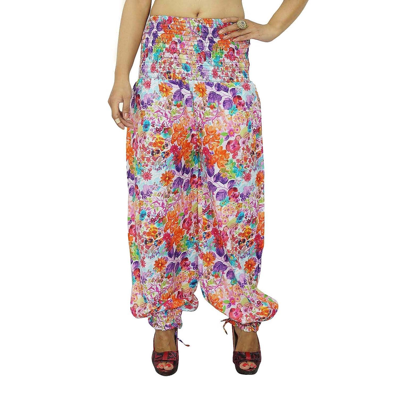 Multicolor Blumenharemshosen Boho Gypsy Hose Elastische Pants Indian Pyjamas