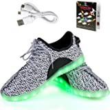 LED Chaussures,Shinmax Chaussure LED Sports Basket Lumineuse 7 Couleur USB Charge Chaussure Clignotants pour Unisexe Homme Femme Garçon Fille avec Certificat CE