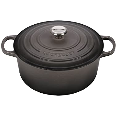 Le Creuset Signature Enameled Cast-Iron 7-1/4-Quart Round French (Dutch) Oven, Oyster
