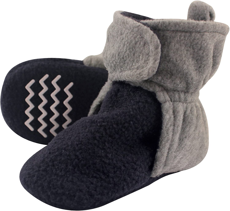 Navy Heather Gray 2 Toddler Hudson Baby Unisex Baby Cozy Fleece Booties