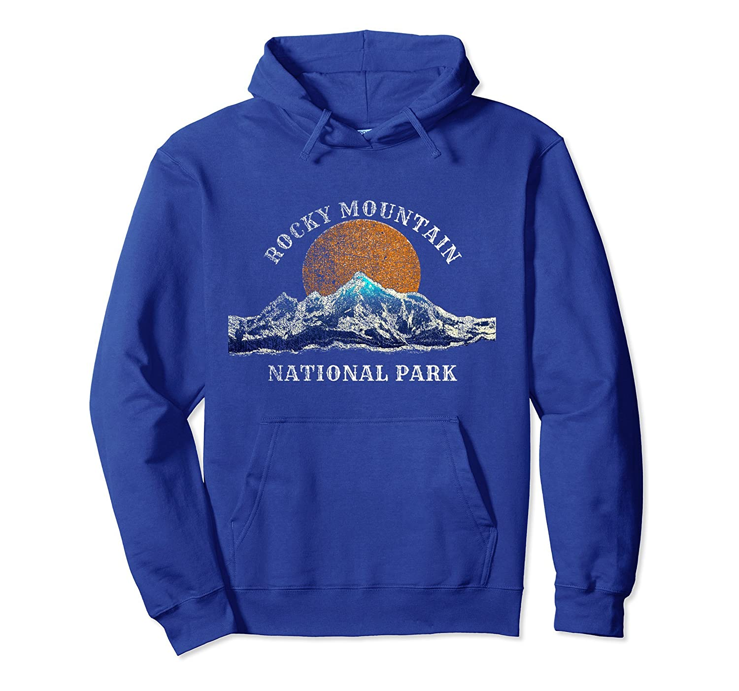 Rocky Mountain National Park Hoodie with Mountain Scenery-fa