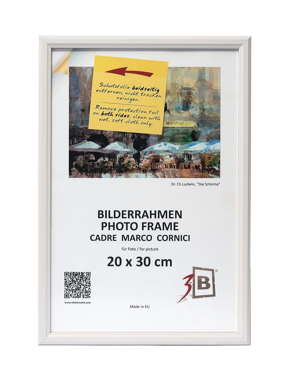 3-B Set 2 Stk. - Bilderrahmen JENA 20x30 cm - weiß - Holzrahmen ...