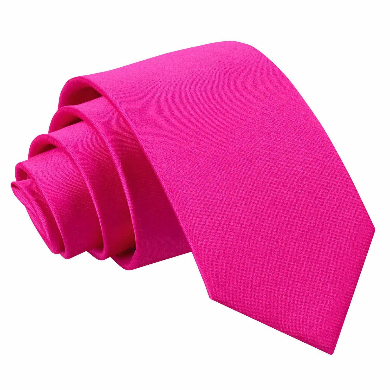 Neuf DQT Uni Satin/ée Haute Qualit/é Classique /Él/égant Homme Mariage Fashion Tenue daffaire 7cm Slim Cravate