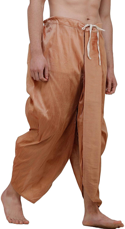 Maenner-Dhoti-Dupion-Silk-Plain-handgefertigt-fuer-Pooja-Casual-Hochzeit-Wear Indexbild 68