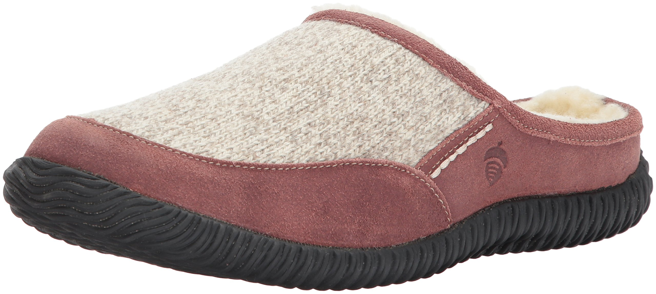 Acorn Men's Rambler Mule Slipper, Grey Ragg Wool, 10