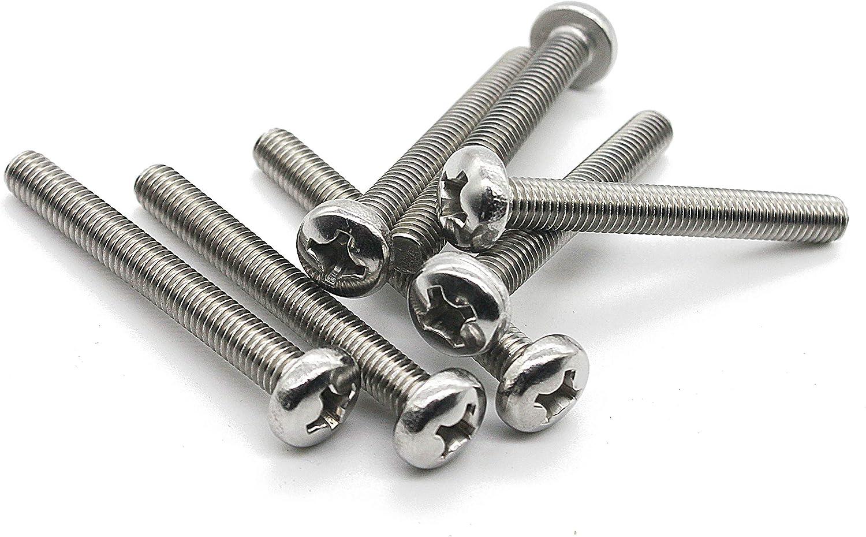 M4-0.7x60 mm Pan Head Phillips Machine Screws,18-8 Stainless Steel by Fullerkreg 25 pc