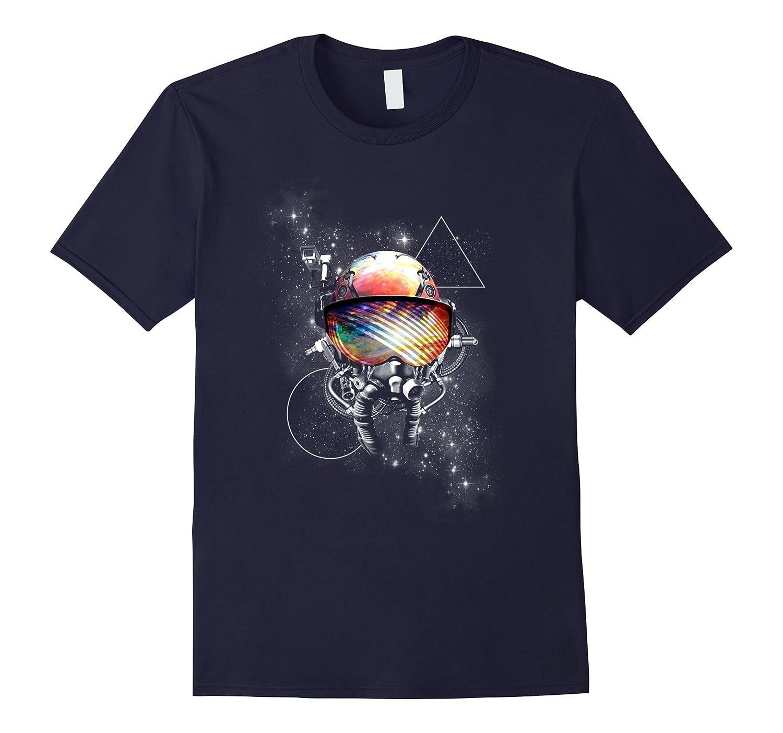 Graphic Design Cosmic Space Astronaut Pilot Helmet T-shirt-TH