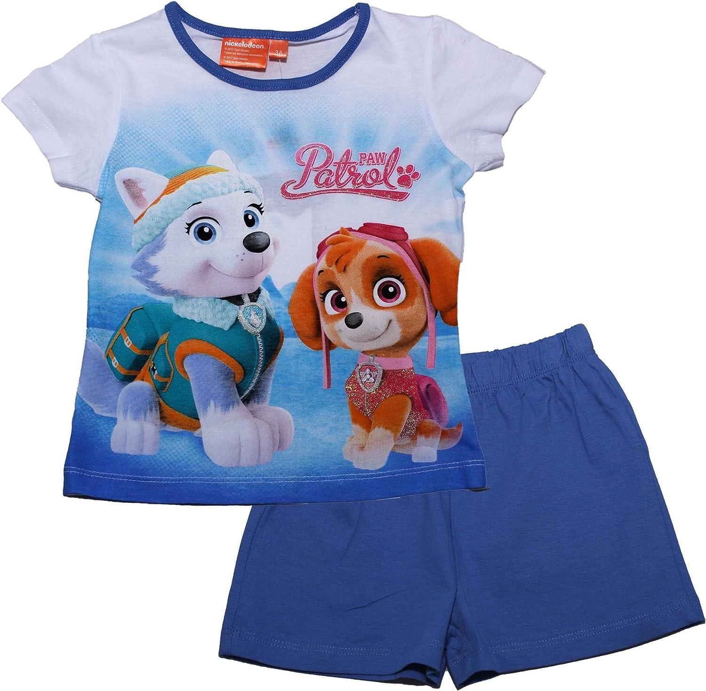 PAW PATROL Girls Pawfect Team Short Sleeve Pyjama Set Spring Summer Collection