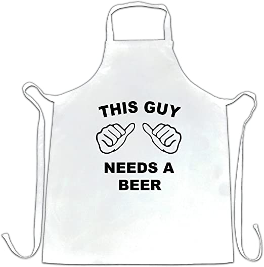 THIS GUY NEEDS A BEER  New Funny Hoodie Gift Present Slogan