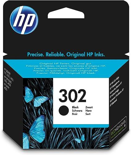 HP 302 - Cartucho de tinta Original HP 302 Negro para HP DeskJet 2130, 3630 HP OfficeJet 3830, 4650 HP ENVY 4520 & AmazonBasics Papel multiusos para impresora A4 80gsm, 1 paquete, 500 hojas, blanco: Amazon.es: Oficina y papelería
