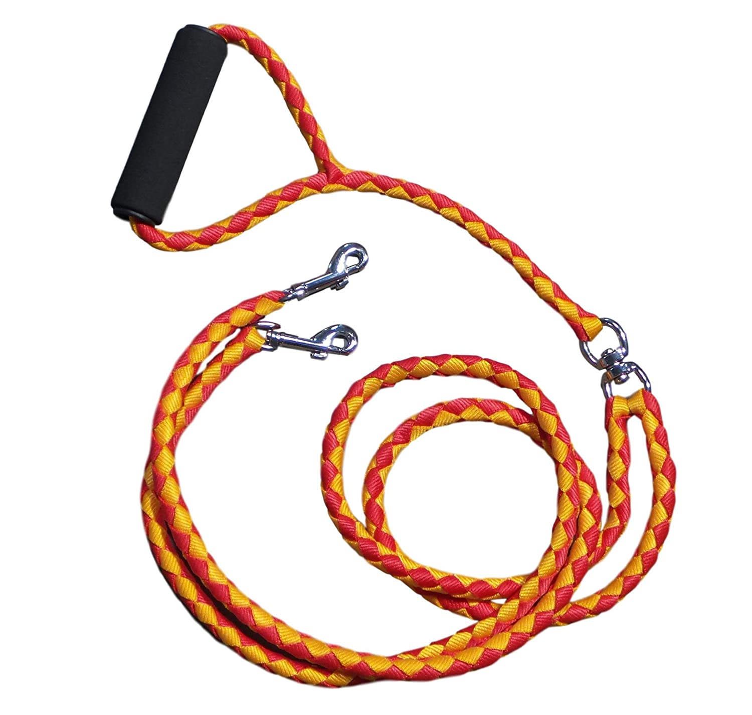 EZ 2 Walk Dual Dog Leash for Small and Medium Sized Dogs with Soft Handle   Walking and Training Leash for Two Dogs   No Tangle