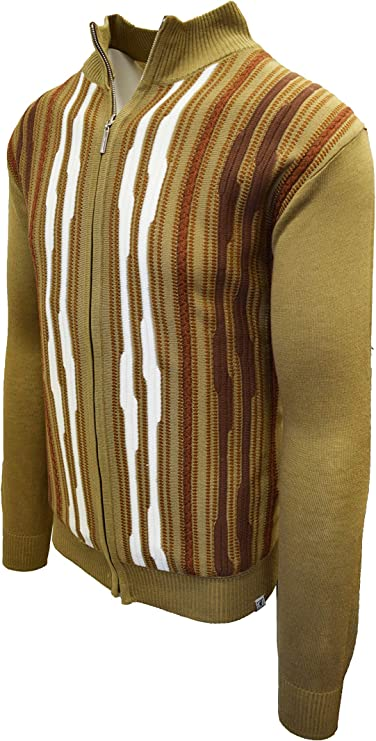 Men's Vintage Sweaters, Retro Jumpers 1920s to 1980s STACY ADAMS Mens Full Zippered Winter Sweaters  AT vintagedancer.com
