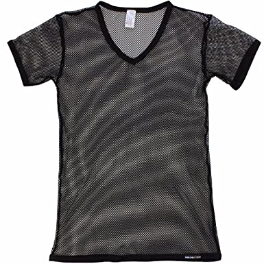 Camiseta transparente de efecto red. Opción de varios colores.