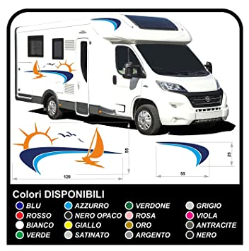 Motorhome stripes stickers for motorhome graphics vinyl stickers decals set camper van rv caravan motorhome