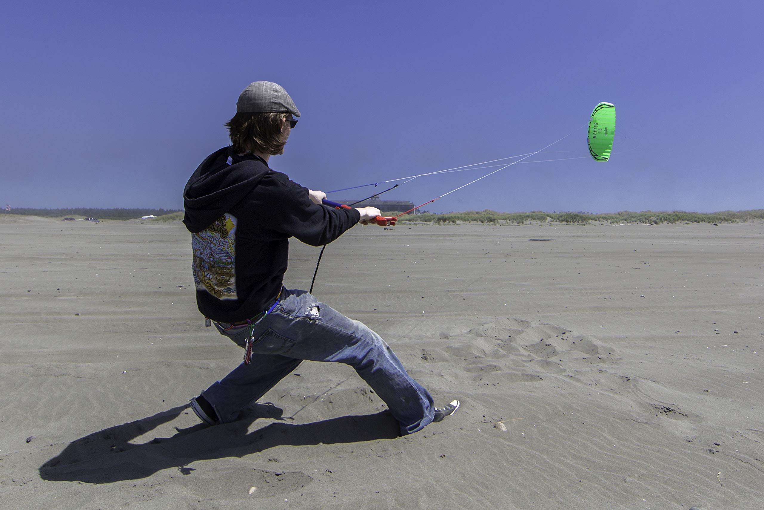 Prism Mentor 3.5m Water-relaunchable Three-line Power Kite Ready to Fly with Control bar, Ground Stake and Quick Release Safety Leash by Prism Kite Technology (Image #3)