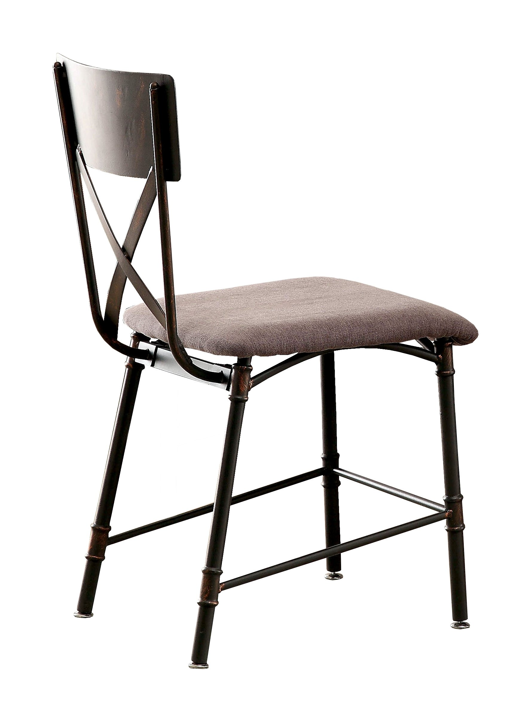 HOMES: Inside + Out IDF-AC6913 Limonite Industrial Chair, Antique Black