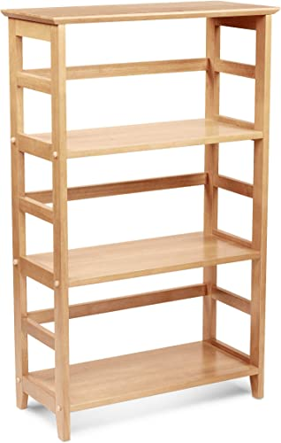 PJ Wood 4-Tier Bookshelf