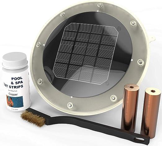 Ionizador Solar para Piscina Mata algas con 80% menos de cloro y mantiene el agua brillante claro sin alguicidas | Treats piscinas 500 A 35.000 galones | Save $300 ...
