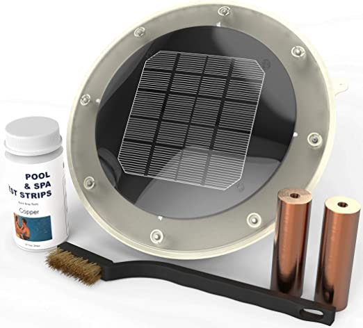 Ionizador Solar para Piscina Mata algas con 80% menos de cloro y ...