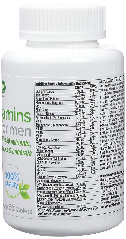 Quamtrax Nutrition MegaVitamins para Hombre - 60 Cápsulas ...
