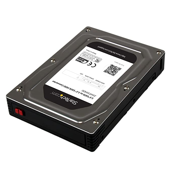 """2.5"""" to 3.5"""" SATA Aluminum Hard Drive Adapter Enclosure SSD / HDD Height up to 12.5mm - 2.5in to 3.5in SATA SSD/HDD Converter"""