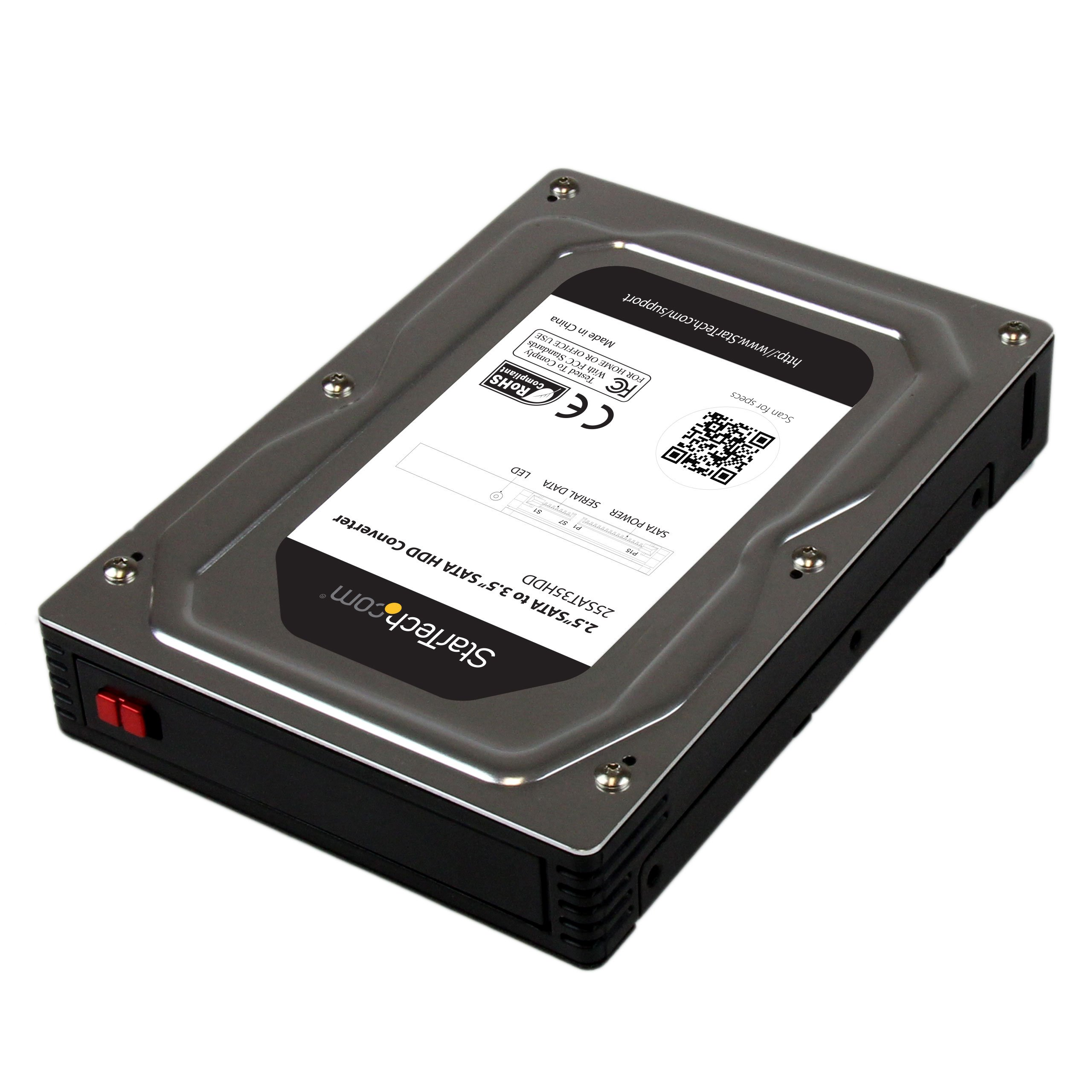 StarTech.com 2.5-Inch to 3.5-Inch SATA Enclosure SSD/HDD Aluminum Hard Drive Adapter (25SAT35HDD)