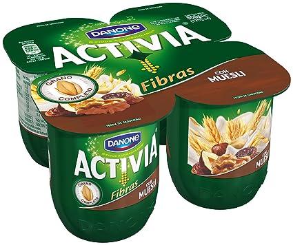 Activia - Yogur Danone Fibras Muesli Pack 4 x 125 g